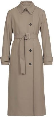 Victoria Victoria Beckham Wool Gabardine Single-breasted Coat