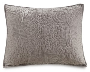 Martha Stewart Collection Medallion Tufted Velvet Quilted Standard Sham, Created for Macy's
