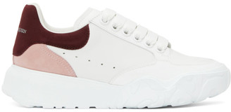 Alexander McQueen White Tricolor Court Sneakers