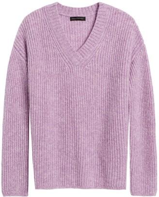 Banana Republic Merino-Blend Oversized V-Neck Sweater