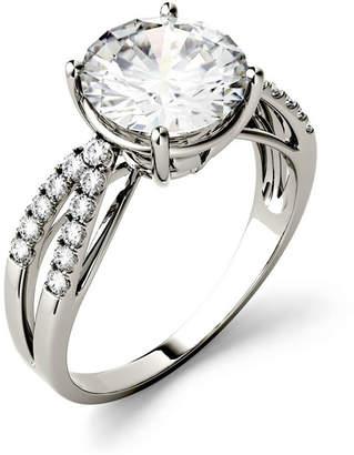 Charles & Colvard Moissanite Split Shank Ring 2-9/10 ct. t.w. Diamond Equivalent in 14k White Gold