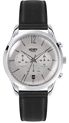 Henry London Unisex-Adult Chronograph Quartz Watch with Leather Strap HL39-CS-0077