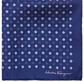 Salvatore Ferragamo Men's Diamond- & Gancio-Print Silk Pocket Square