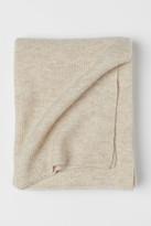 H&M Ribbed Wool-blend Throw - Beige