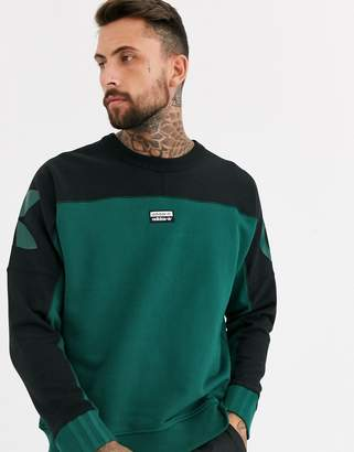 adidas vocal sweatshirt with logo back print in green