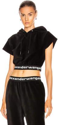 Alexander Wang Corduroy Hoodie in Black | FWRD