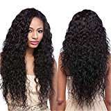 Echo Beauty 7A Quality Medium Cap Cheap Curly Peruvian Unprocessed Virgin Human Hair Full Lace Wig Black Color 24''