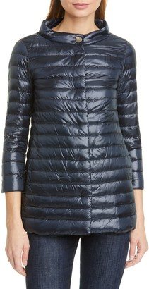 Herno Rossella Water Repellent High/Low A-Line Down Puffer Jacket