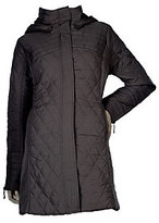 George Simonton As Is Zip Front Quilted Coat with Removable Hood