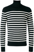 Saint Laurent striped roll neck jumper - men - Cashmere - S