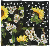 Dolce & Gabbana daisy print scarf - women - Silk/Cashmere - One Size