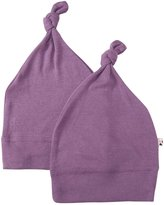 Baby Soy 2 Pack Modern Abcs Knot Beanie (Baby) - Wineberry - 0-6 Months