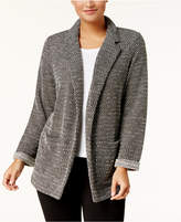 Style&Co. Style & Co Petite Open-Front Terry Jacket, Created for Macy's
