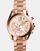 Michael Kors Mini Bradshaw Rose Gold-Tone Chronograph Watch