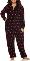Flirtitude Hooded Union Suit Pajamas - Plus