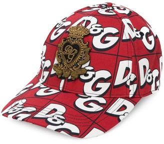 Dolce & Gabbana All-Over Logo Cap