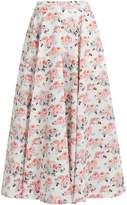 Emilia Wickstead Eleanor floral-print midi skirt