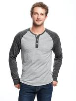 Old Navy Soft-Washed Color-Block Henley for Men