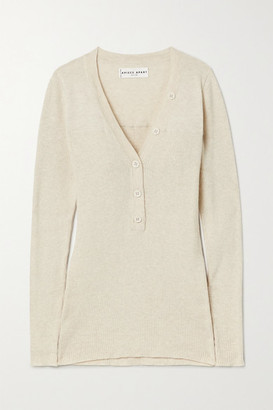 Apiece Apart Rio Ribbed Cotton And Cashmere-blend Sweater - Beige