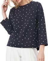 MANGO Classy Sweatshirt With Stripe Design