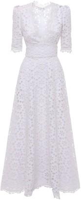 Elie Saab Deep V Neck Macrame Long Dress