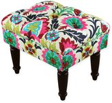 Skyline Upholstered Tufted Ottoman in Santa Maria Desert Flower