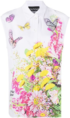 Boutique Moschino Floral-Print Sleeveless Shirt