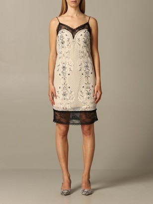 Twin-Set Lace Dress With Embroidery