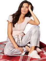 New York & Co. 2-Piece Pajama Set - Grey Plaid