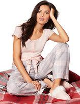 New York & Co. 2-Piece Pajama Set - Grey Plaid