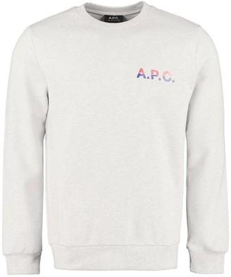 A.P.C. Michel Logo Detail Cotton Sweatshirt