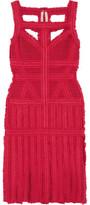 Herve Leger Eleanora Frayed Bandage Dress