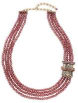 Heidi Daus Buckle Beaded Multi-Strand Necklace