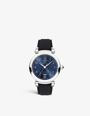 IWC IW458312 Da Vinci Automatic 36 stainless steel and leather watch