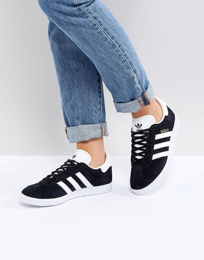 Gazelle sneakers in black suede