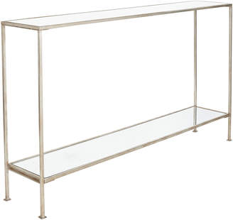 OKA Rivulet Console Table, Large - Antiqued Silver