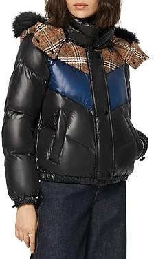 Andrew Marc Nadir Faux Fur Trim Hooded Puffer Coat