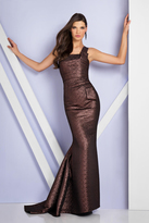 Terani Couture 1721E4037 One Shoulder Strap Trumpet Gown