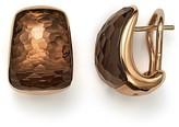 Roberto Coin 18K Rose Gold Martellato Drop Earrings with Smoky Quartz