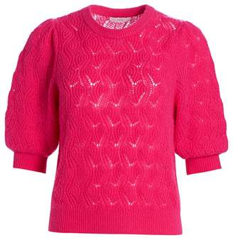 Joie Wool & Cashmere Puff Sleeve Sweater