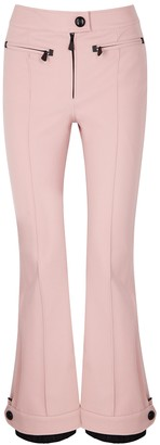 Moncler Blush Flared Stretch-twill Trousers