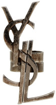 Saint Laurent Silver Deconstructed Monogram Ring