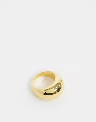 And other stories & brass chunky ring in gold