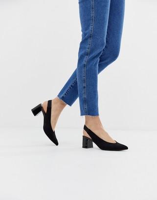 Stradivarius slingback shoes in black