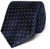 Canali 8cm Polka-dot Silk-jacquard Tie - Navy
