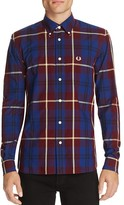 Fred Perry Oversized Check Slim Fit Button Down Shirt