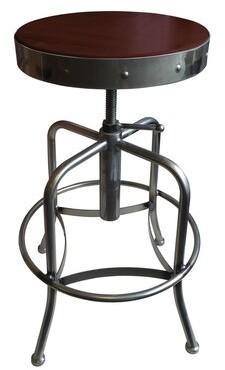 Holland Bar Stool Swivel Adjustable Height Bar Stool Upholstery: Dark Cherry