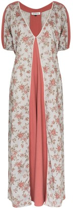 Masterpeace Floral Print Panelled Maxi Dress