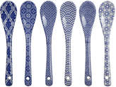 Design Studio Tokyo Nippon Blue Spoon Set - Mixed Set Of 6