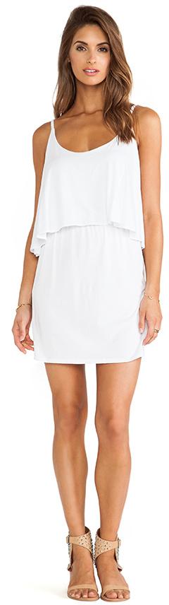 Bobi Jersey Layered Dress